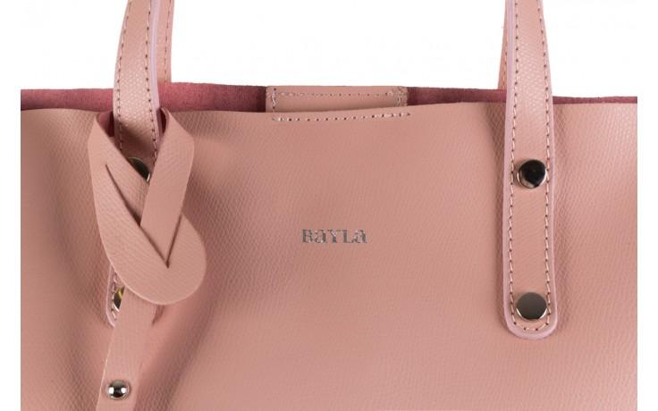 Torebka bayla-180 jasnoróżowa torebka ze skóry loren - akcesoria - kobieta 4