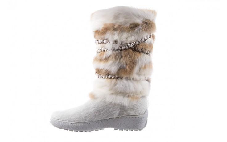 Śniegowce oscar brook bianco, biały/brąz, futro naturalne - oscar - nasze marki 2