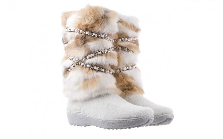Śniegowce oscar brook bianco, biały/brąz, futro naturalne - oscar - nasze marki 1