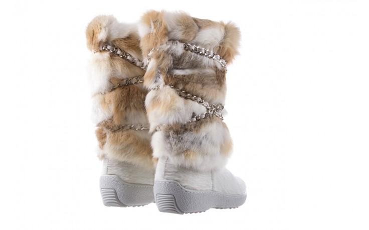 Śniegowce oscar brook bianco, biały/brąz, futro naturalne - oscar - nasze marki 3