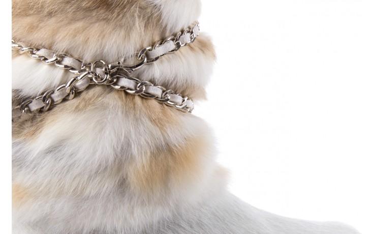 Śniegowce oscar brook bianco, biały/brąz, futro naturalne - oscar - nasze marki 5