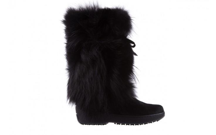 Śniegowce oscar volpe nero, czarny, futro naturalna  - oscar - nasze marki