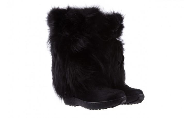 Śniegowce oscar volpe nero, czarny, futro naturalna  - oscar - nasze marki 1