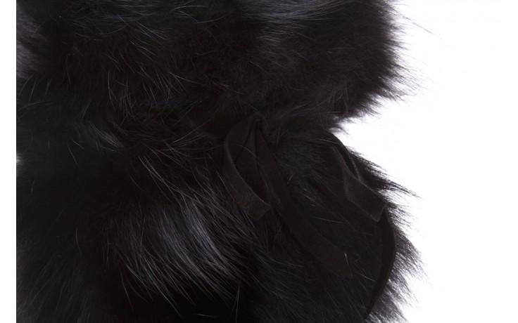 Śniegowce oscar volpe nero, czarny, futro naturalna  - oscar - nasze marki 5