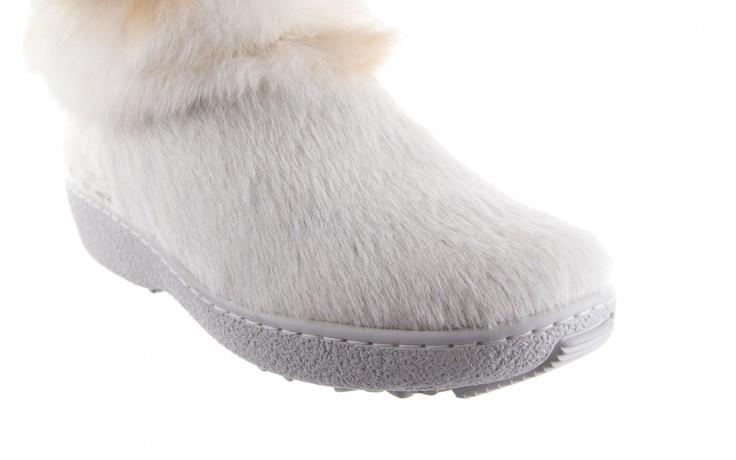 Śniegowce oscar brook bianco, biały/brąz, futro naturalne - oscar - nasze marki 4