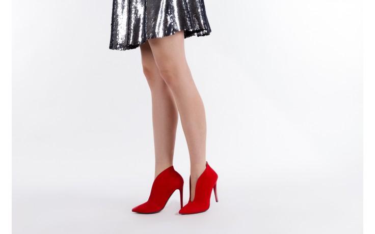 Botki bayla-097 z7011-322 czerwony, skóra naturalna - na szpilce - botki - buty damskie - kobieta 6