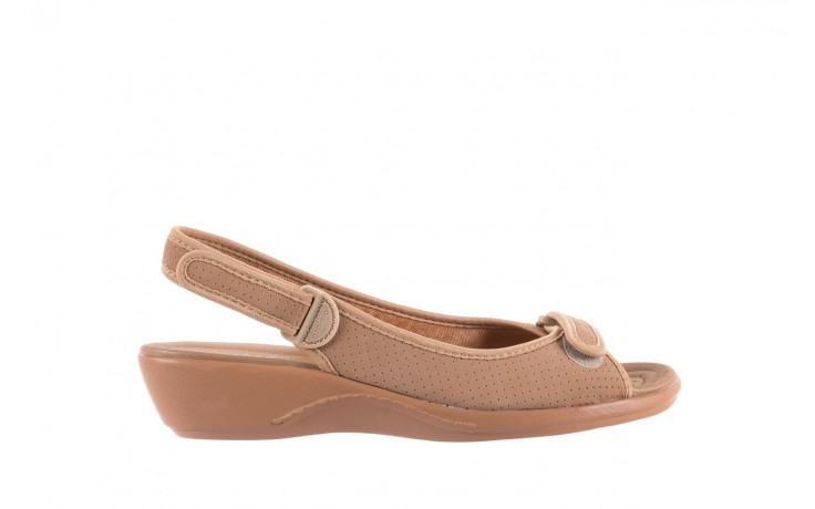 Sandały azaleia 322 248 nobuck beige, beż, materiał