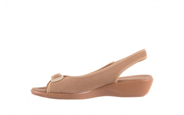 Sandały azaleia 322 248 nobuck beige, beż, materiał 2