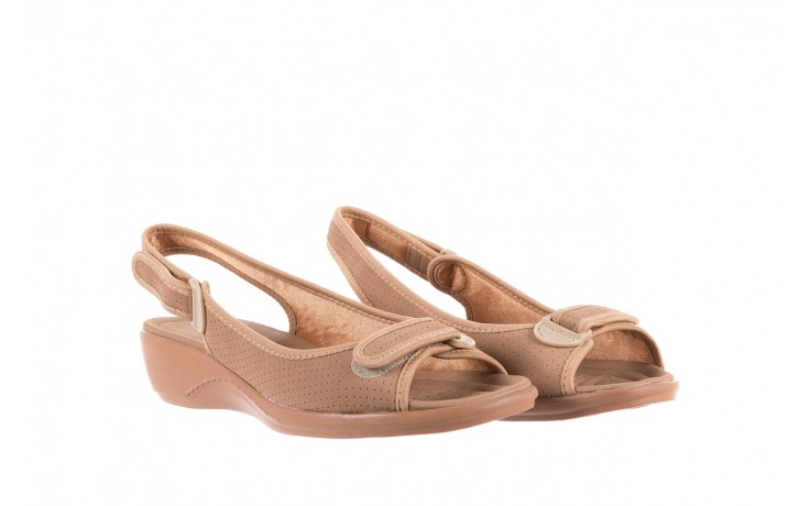 Sandały azaleia 322 248 nobuck beige, beż, materiał 1