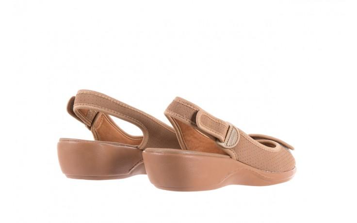 Sandały azaleia 322 248 nobuck beige, beż, materiał 3