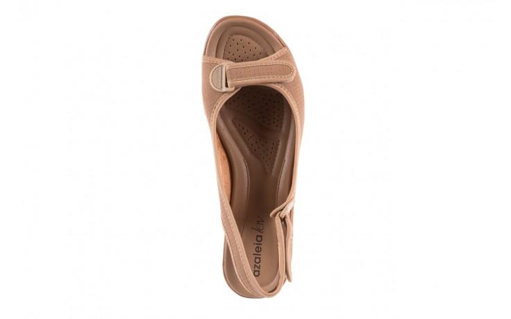 Sandały azaleia 322 248 nobuck beige, beż, materiał 4