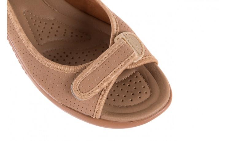 Sandały azaleia 322 248 nobuck beige, beż, materiał 5