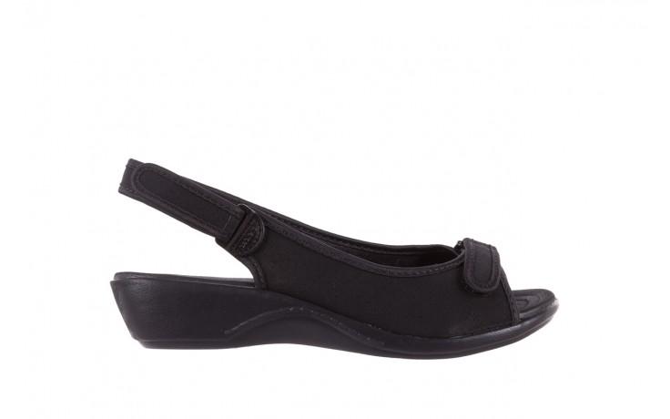 Sandały azaleia 322 248 nobuck black 17, czarny, materiał  - sandały - dla niej - dodatkowe -10%