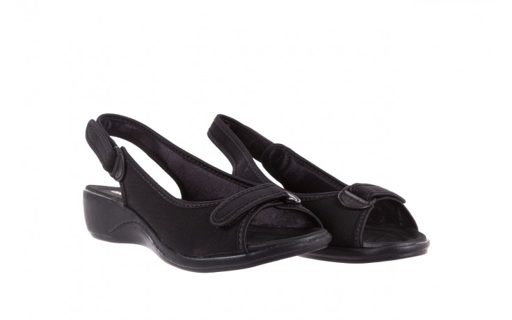 Sandały azaleia 322 248 nobuck black 17, czarny, materiał  - sandały - dla niej - dodatkowe -10% 1