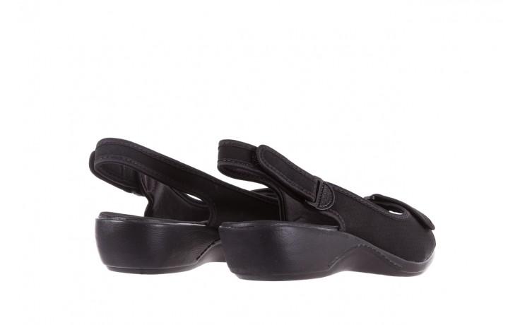 Sandały azaleia 322 248 nobuck black 17, czarny, materiał  - sandały - dla niej - dodatkowe -10% 3