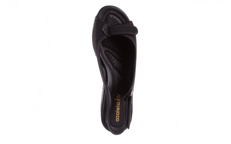 Sandały azaleia 322 248 nobuck black 17, czarny, materiał  - sandały - dla niej - dodatkowe -10% 4