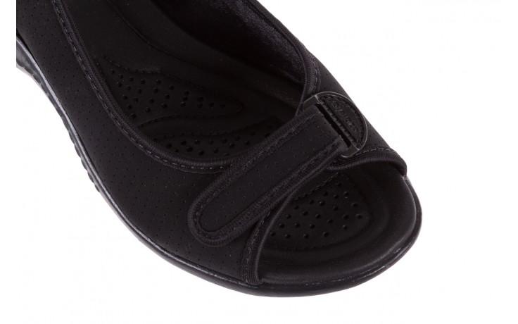Sandały azaleia 322 248 nobuck black 17, czarny, materiał  - sandały - dla niej - dodatkowe -10% 5