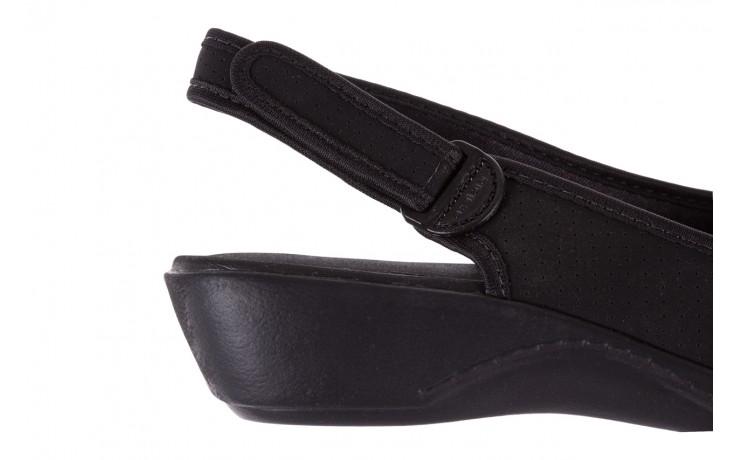 Sandały azaleia 322 248 nobuck black 17, czarny, materiał  - sandały - dla niej - dodatkowe -10% 6