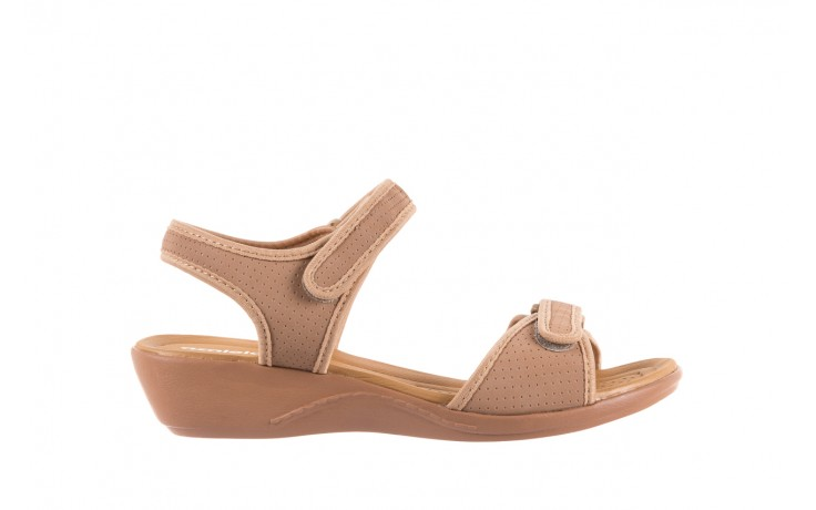 Sandały azaleia 322 363 nobuck beige, beż, materiał - sandały - dla niej - dodatkowe -10%