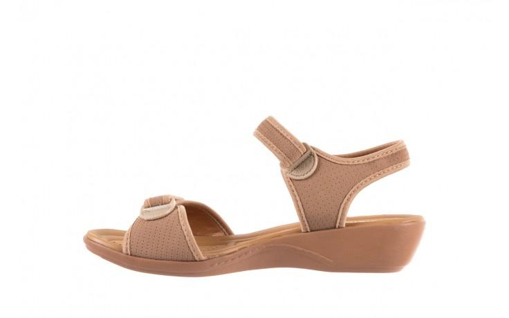 Sandały azaleia 322 363 nobuck beige, beż, materiał - sandały - dla niej - dodatkowe -10% 2
