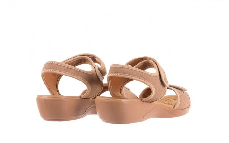 Sandały azaleia 322 363 nobuck beige, beż, materiał - sandały - dla niej - dodatkowe -10% 3