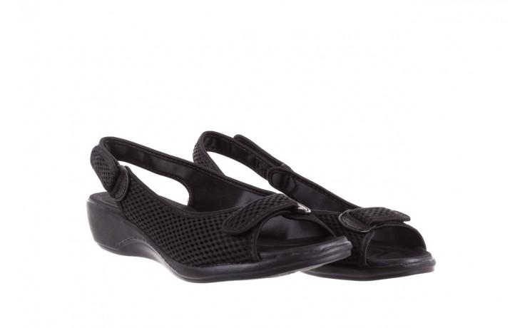 Sandały azaleia 322 261 black, czarny, materiał - azaleia - nasze marki 1