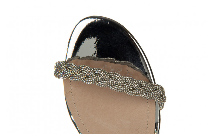 Klapki sca'viola b-205 silver 047180, srebro, silikon - klapki - buty damskie - kobieta 9