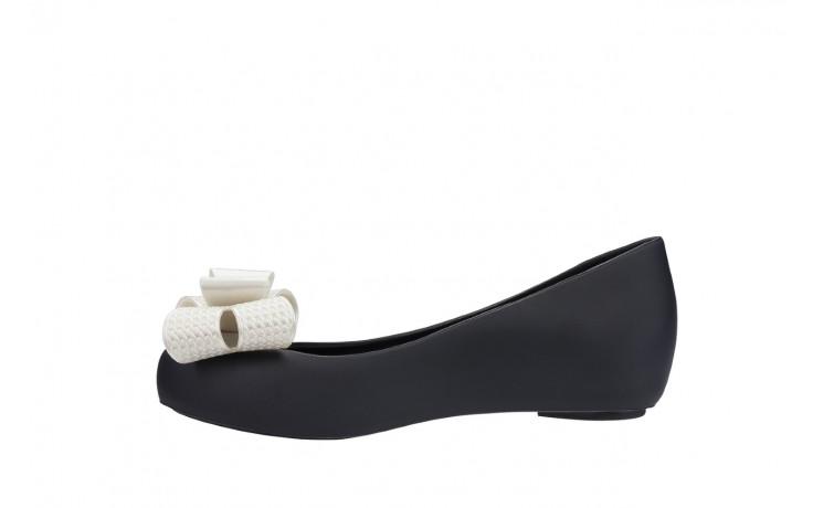 Baleriny melissa ultragirl sweet xv ad black white metalized, czarny/biały, guma - melissa - nasze marki 2