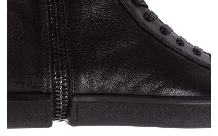 Sneakersy john doubare m5761-1 black, czarny , skóra naturalna  - trendy - mężczyzna 9