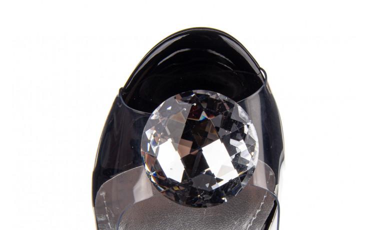 Sandały sca'viola g-17 black 21 047184, czarny, silikon  - na obcasie - sandały - buty damskie - kobieta 9