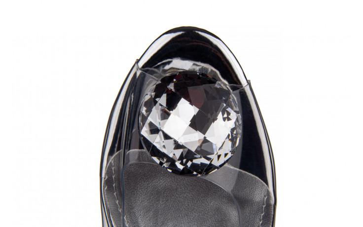 Sandały sca'viola g-15 silver 21 047183, srebro, silikon  - na obcasie - sandały - buty damskie - kobieta 9
