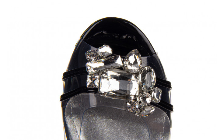 Sandały sca'viola g-25 black 047187, czarny, silikon 8