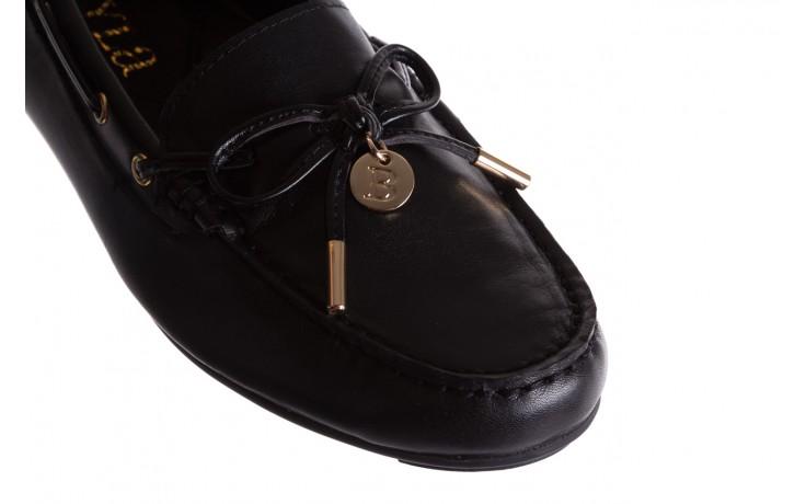 Mokasyny bayla-018 3173-358 black nappa, czarny, skóra naturalna  - bayla - nasze marki 5