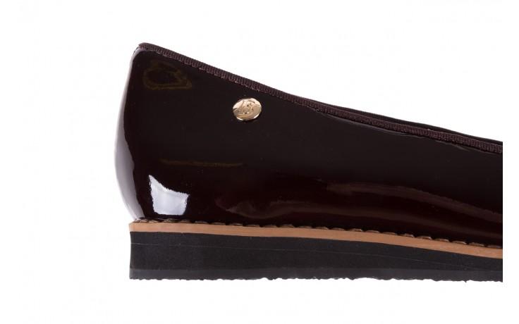 Mokasyny bayla-018 1063-x90 burgundy patent, bordo, skóra naturalna lakierowana  - bayla - nasze marki 6