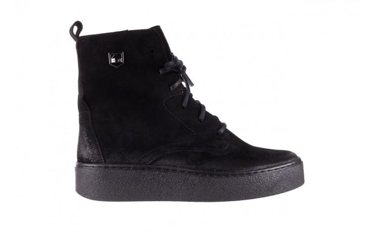 Trzewki bayla-100 1004 czarne sportowe trzewiki, skóra naturalna - trzewiki - buty damskie - kobieta