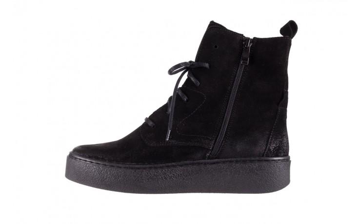 Trzewki bayla-100 1004 czarne sportowe trzewiki, skóra naturalna - trzewiki - buty damskie - kobieta 2
