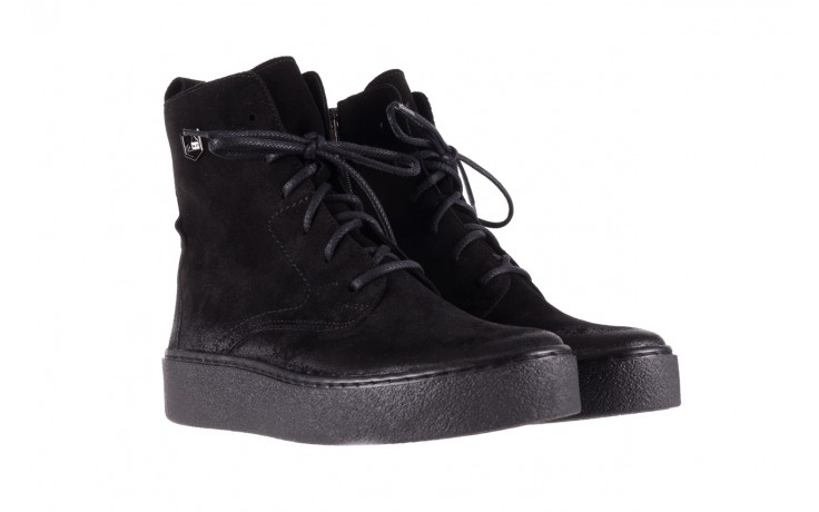 Trzewki bayla-100 1004 czarne sportowe trzewiki, skóra naturalna - trzewiki - buty damskie - kobieta 1