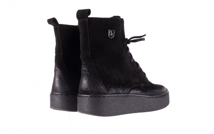 Trzewki bayla-100 1004 czarne sportowe trzewiki, skóra naturalna - trzewiki - buty damskie - kobieta 3