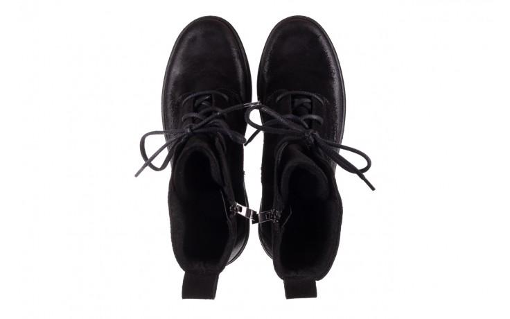 Trzewki bayla-100 1004 czarne sportowe trzewiki, skóra naturalna - trzewiki - buty damskie - kobieta 4