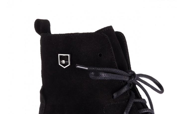 Trzewki bayla-100 1004 czarne sportowe trzewiki, skóra naturalna - trzewiki - buty damskie - kobieta 5