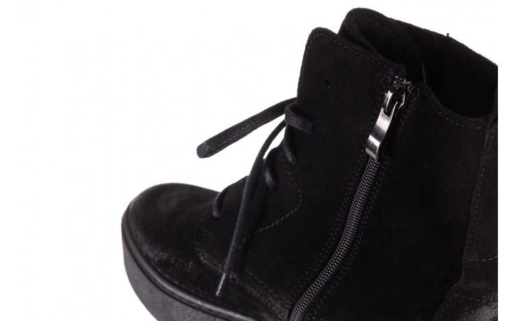 Trzewki bayla-100 1004 czarne sportowe trzewiki, skóra naturalna - trzewiki - buty damskie - kobieta 7