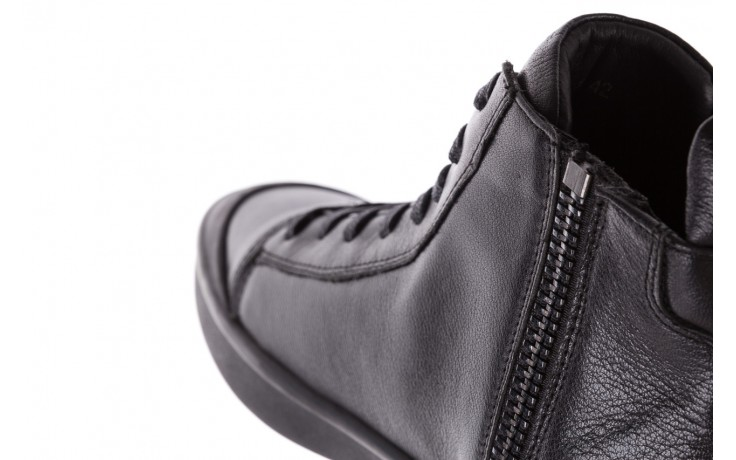 Sneakersy john doubare m5761-1 black, czarny , skóra naturalna  - trendy - mężczyzna 10