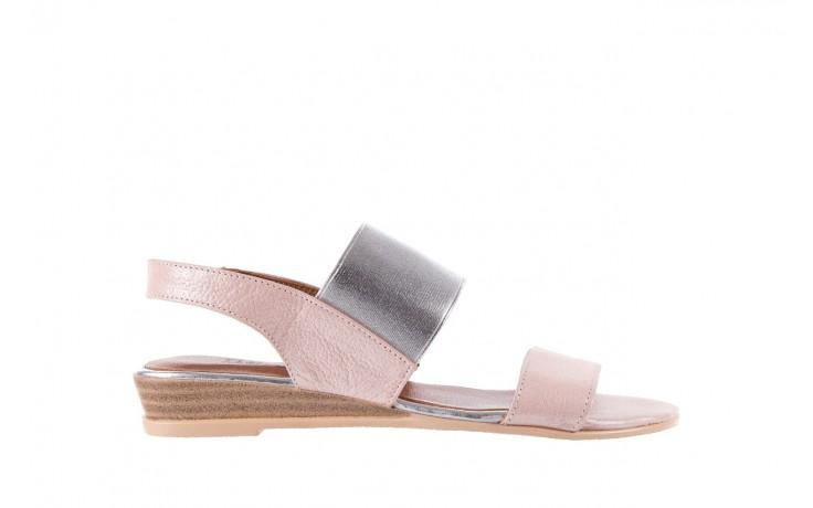 Sandały bayla-112 0410-120 powder satin, róż, skóra naturalna  - bayla - nasze marki