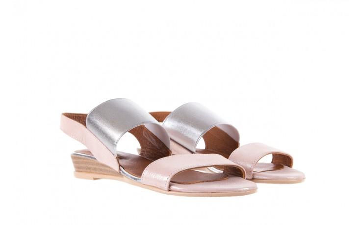 Sandały bayla-112 0410-120 powder satin, róż, skóra naturalna  - bayla - nasze marki 1