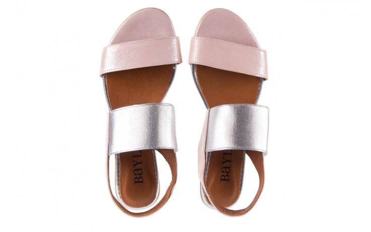 Sandały bayla-112 0410-120 powder satin, róż, skóra naturalna  - bayla - nasze marki 4