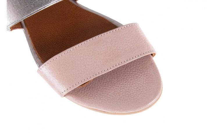 Sandały bayla-112 0410-120 powder satin, róż, skóra naturalna  - bayla - nasze marki 5