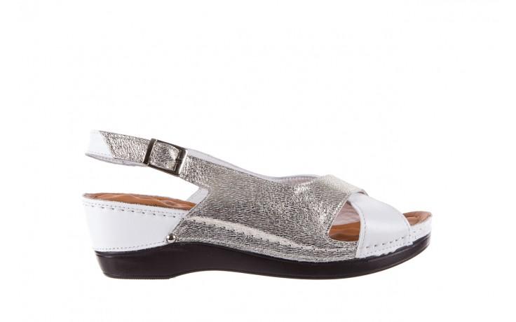 Sandały bayla-112 0158-58 white platinium, biały/srebrny, skóra naturalna  - bayla - nasze marki
