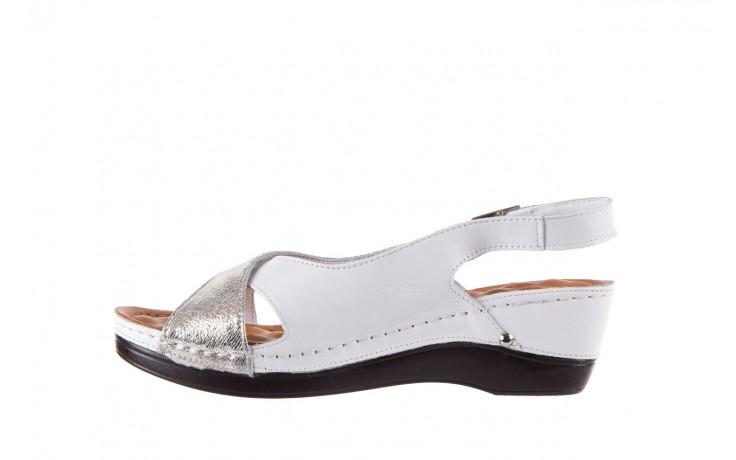 Sandały bayla-112 0158-58 white platinium, biały/srebrny, skóra naturalna  - bayla - nasze marki 2