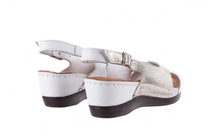 Sandały bayla-112 0158-58 white platinium, biały/srebrny, skóra naturalna  - bayla - nasze marki 3