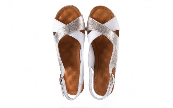 Sandały bayla-112 0158-58 white platinium, biały/srebrny, skóra naturalna  - bayla - nasze marki 4